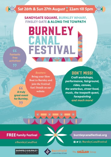 Burnley Canal Festival 2017 A5 Flyer - page 1