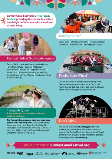 Burnley Canal Festival 2017 A5 Flyer - page 2
