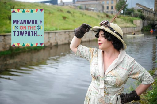 PIC BY BEN FURST/MERCURY PRESS (PICTURED: A MAN DRESSED IN A VICTORIAN EXPLORER OUTFIT TAKES PART IN THE BURNLEY CANAL FESTIVAL.PIC DATE 28.08.2016) These beautiful pictures show families flooding the banks of Burnley canal to mark the 200th birthday of the Leeds-Liverpool waterway this Bank Holiday weekend. Artists joined dancers, bands, boaters and residents to stage a 'creative revolution' with an explosion of colour, art and family fun for this year's Burnley Canal Festival. To celebrate the bicentenary of the 127-mile canal, festival participants donned traditional Victorian dress while venues along the water were adorned with new artworks and performances. And while a myriad of colourful boats and barges filled the waterway, kids had the chance to decorate their own less water-resistant vessel made of cardboard. Drawing on the heritage of Burnley as a vital cog in the wheel on industrialisation, revellers were also treated to maypole dancing, Punch and Judy shows and folk dancing SEE MERCURY COPY